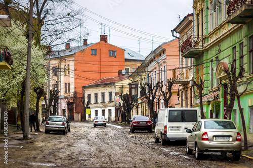 Poster Havana Old street in Chernivtsi, Ukraine