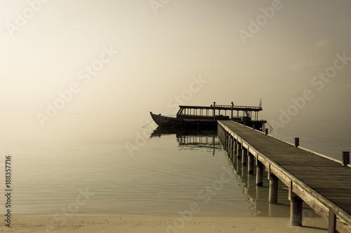 Fototapeta Dive boat at Dawn obraz na płótnie