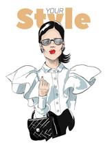 Fashion Portrait Of Stylish Gi...