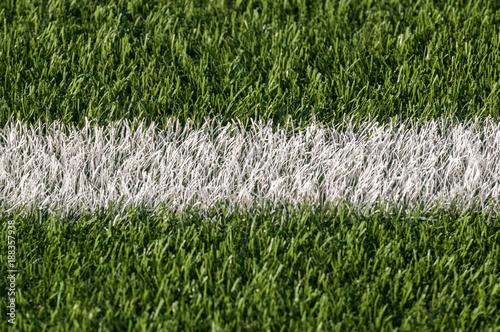 White stripe of astroturf American football field Canvas Print