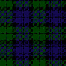 Scottish Plaid In Green, Black...