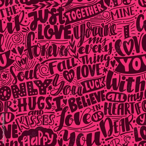 Obraz na plátně  Love pattern