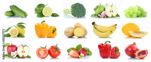Früchte Obst und Gemüse Apfel Tomaten Farben Sammlung Freisteller freigestellt isoliert © Markus Mainka