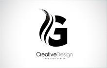 G Letter Design Brush Paint St...