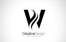 W Letter Design Brush Paint St...