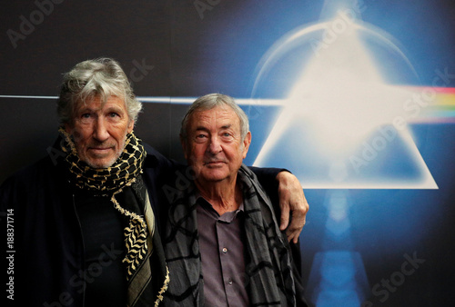 e272195e Band members Roger Waters and Nick Mason pose before the unveiling of