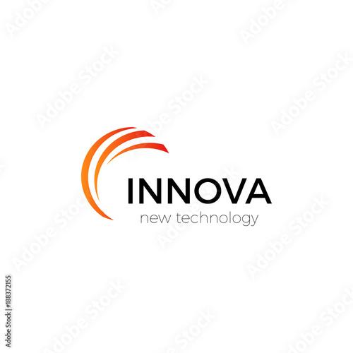Innovation technology company abstract vector logo template. Canvas Print