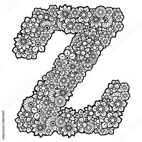 Flowers Doodle In The Letter Z Clipart Serie 26 26 Buy This Stock