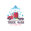 Emblem truck car wash.