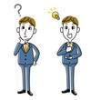 ビジネスマン|疑問、閃きセット