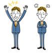 ビジネスマン|喜ぶ、怒るセット