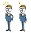 ビジネスマン|虫眼鏡 、発見、探すセット