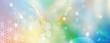 canvas print picture - Banner Blume des Lebens in einem Lichtermeer aus Regenbogenfarben