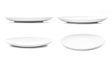 White Dish Or Ceramic Plate Is...