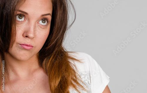 Vászonkép portrait of  young capricious brunette