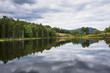 Idyllic view of lake against cloudy sky at Acadia National Park