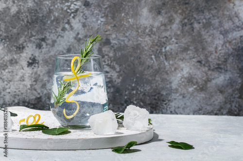 Photo sur Aluminium Cocktail Gin and Tonic drink