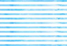 Watercolor Blue Stripes. Blue ...