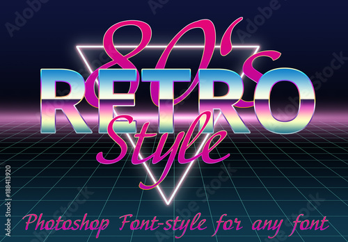 Classic 80's Retro Font Styles  Buy this stock template and explore