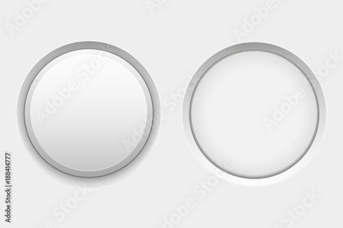 Photo  White round buttons