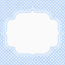 Blue And White Polka Dot Borde...