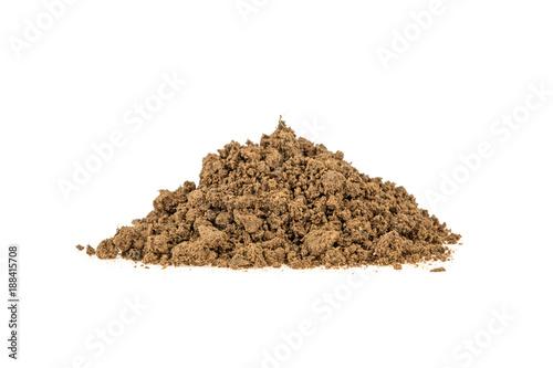 Obraz na plátně pile of clay on a white background