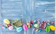 canvas print picture - Bunte Suessigkeiten zu Ostern