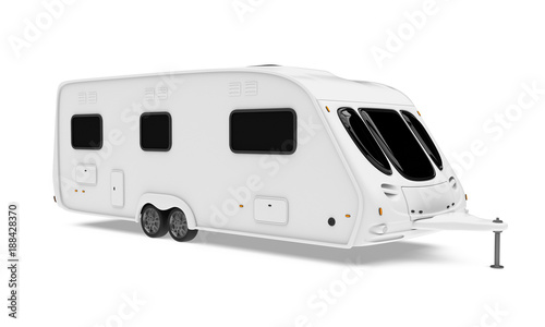 Camper Trailer Isolated Canvas