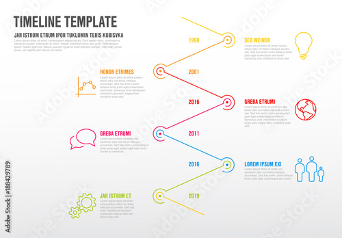 vertical zigzag timeline infographic layout 2 buy this stock
