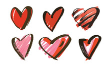 Hand Drawn Hearts Collection V...