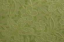 Embossed Green Floral Pattern