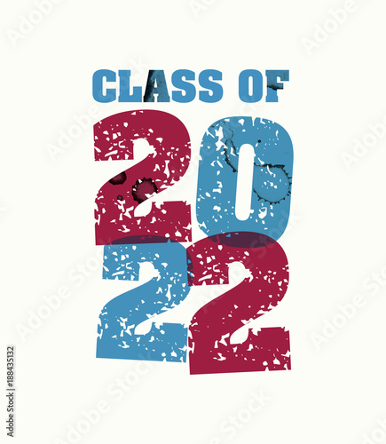 Fotografia  Class of 2022 Concept Stamped Word Art Illustration
