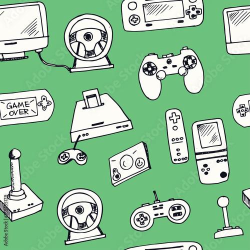 recznie-rysowane-doodle-gry-wideo-wzor