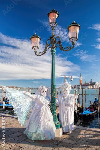 fototapeta na lodówkę Famous Carnival in Venice, Italy