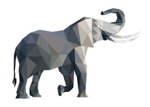 Vector Big Grey Elephant From ...