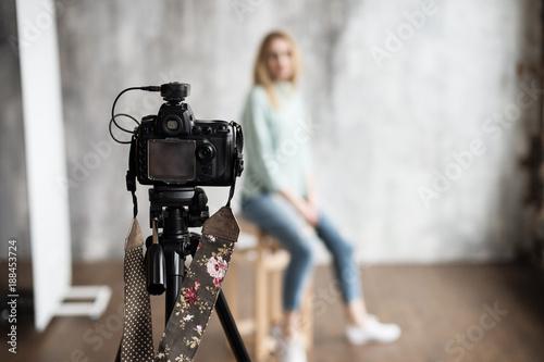 Obraz photo shooting backstage - fototapety do salonu