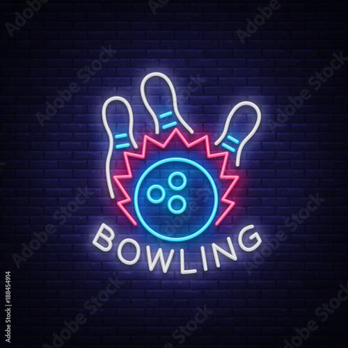 Fotografija Bowling logo vector