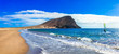 Beaches and water activities in Tenerife. La Tejita beach (el Medano). Canary islands
