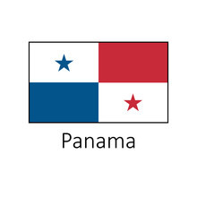 Flag Of Panama With Name Icon....