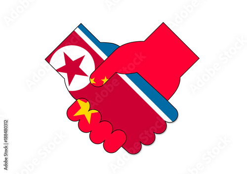 Fotografía  北朝鮮と中国の会談イメージ