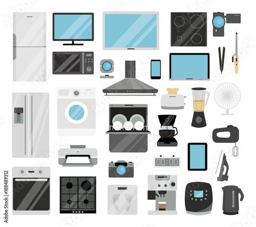 House appliances set. Canvas Print