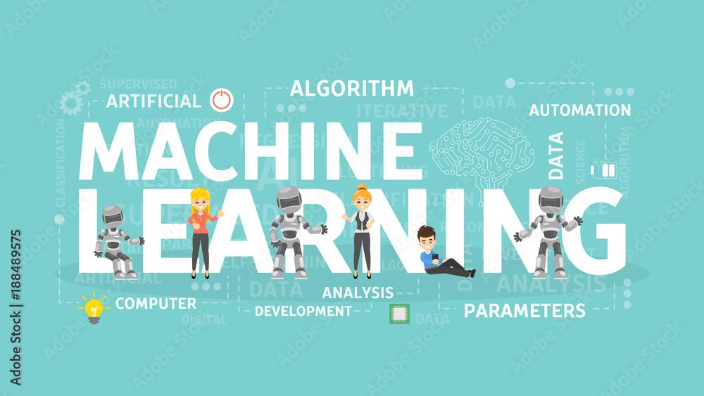 Fototapeta Machine learning concept.