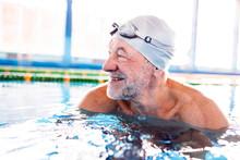 Senior Man In An Indoor Swimmi...