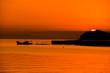 Japan landscape photography 夕日を背景に輝く田舎の漁港 芦北町海岸 Countryside fishing port that shines against the sunset Ashikita-machi coast