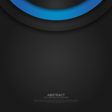 Abstract Circle Angle Arrow Overlap Vector Background On Space For Text And Message Artwork Design