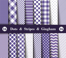 Set Of Seamless Polka Dots, Gi...