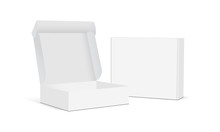 Two Blank Packaging Boxes - Op...