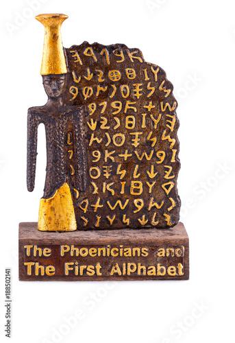 Phoenicians alphabet Wallpaper Mural