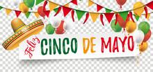 Paper Banner Buntings Chili Sombrero Feliz Cinco De Mayo