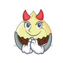 Devil Snake Fruit Mascot Cartoon